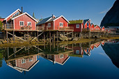Moskenes Island Reine Rorbus Reflection Lofoten Islands Norway 9169