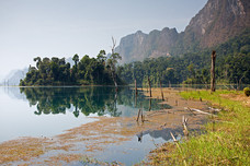 Chieow Laan Lake Morning Khao Sok National Park Thailand 8884